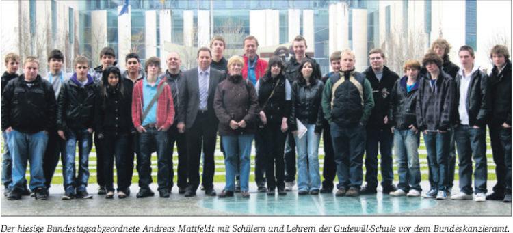 Schüler aus Thedinghausen besuchen MdB