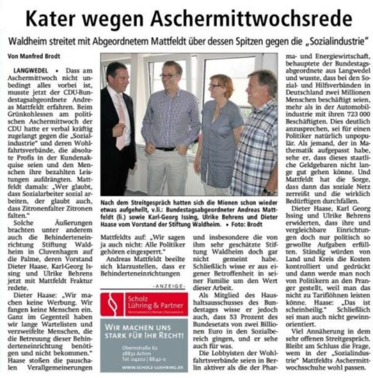 Besuch in der Stiftung Waldheim