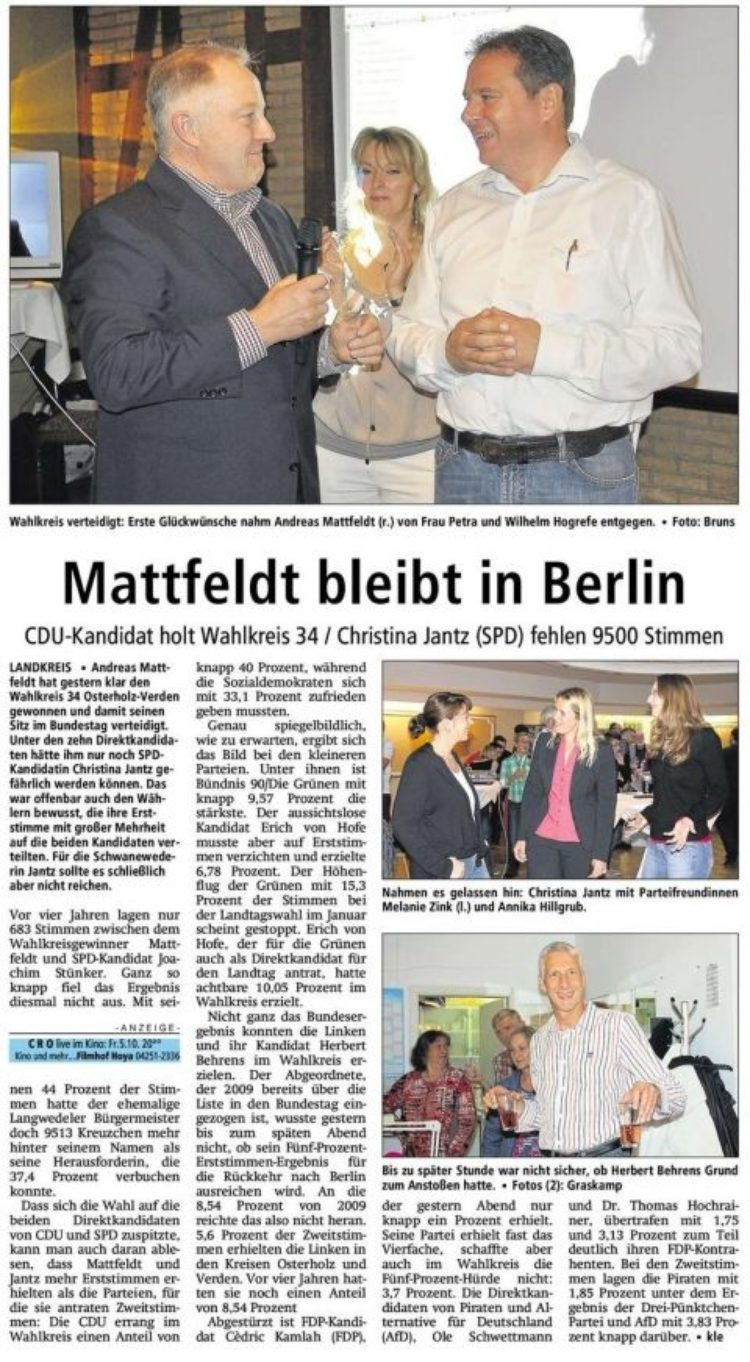 Mattfeldt gewinnt !