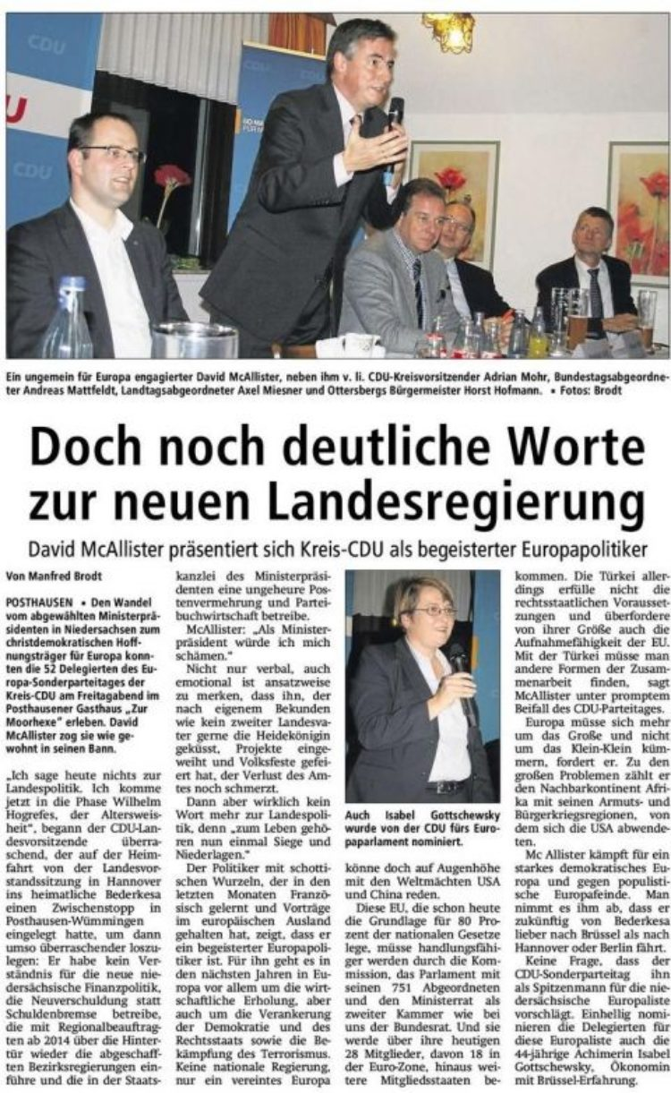 Verdener CDU-Kreisparteitag