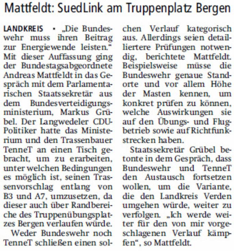 """""""Bundeswehr muss ihren Beitrag leisten"""""""