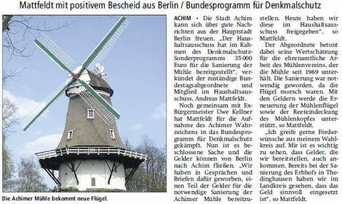 V A Z 14 11 07 Achimer Mühle