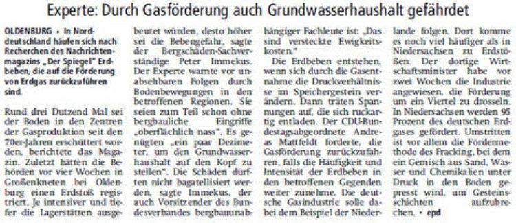 Erdbebengefahr in Niedersachsen wächst