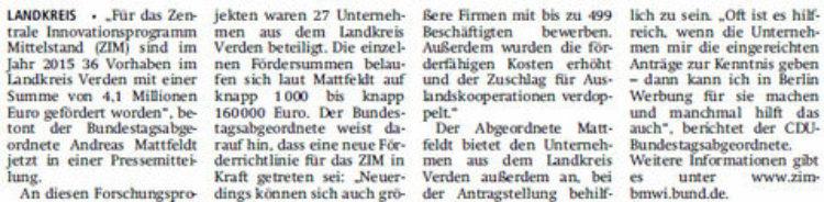 4,1 Millionen Euro für Mittelstandsbetriebe