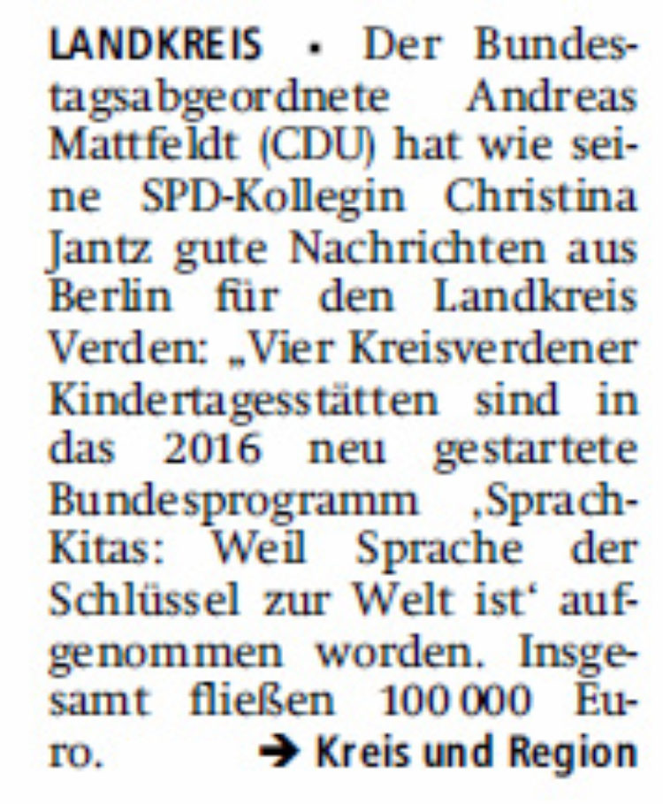 Fördergelder aus Berlin für Kitas