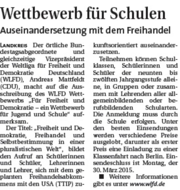 Hamme Report vom 3.12.2014